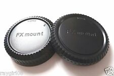 Camera Body + Rear Lens Cap for Fuji FX X Mount Lens  NEW