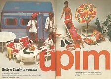 X0720 Betty e Charly in vacanza - UPIM - Pubblicità 1976 - Vintage advertising