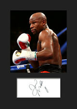 FLOYD MAYWEATHER JR - Signed Photo A5 Mounted Print - FREE DELIVERY