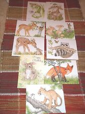 Lot of 10 different cute critter cards by Linda K. Powell, Bill Stroble