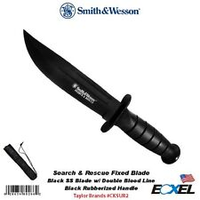 Smith & Wesson #CKSUR2 Search & Rescue Fixed Blade Knife, w/Ballistic Sheath