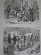Franco Prussian war British ambulance red cross stores at Metz 1870 print