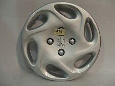 "Peugeot 206 14"" Silver Badge Wheel Trim PEU 415SAT"