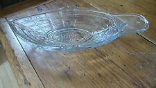1874 EAPG Early American Pattern Glass PICKLE BOAT, Clear Glass, Boat Shaped