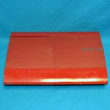 Sony Playstation 3 CECH-4001C 500G Super Slim Video Game Console Red PS3 AS IS