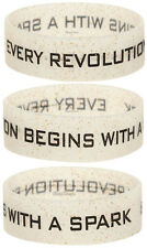The Hunger Games Catching Fire Revolution Glitter Rubber Wristband Bracelet NECA