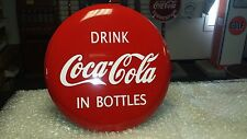1940S 1950S ERA COCA-COLA EXTRA LARGE STEEL 26 INCH DIAMETER BUTTON/DISC SIGN