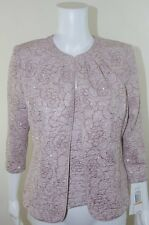 NEW Alex Evenings Twin Set Tank Jacket Mother Bride Wedding Cocktail Small $119