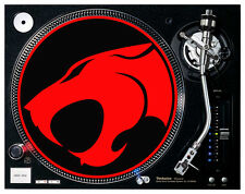 Thunder Cats Red Felt - Turntable / DJ Slipmats