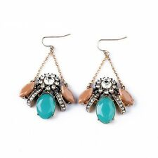ELEGANT ANTHROPOLOGIE SPARKLING RHINESTONES DROP DANGLE EARRINGS – NEW