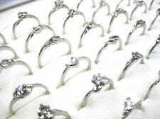 Fashion Wholesale Jewelry Mixed Lots 20pcs Women's Silver Plated Rhinestone Ring
