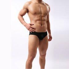 Mens Boys Fashion Low Waist Hip U Leakage Convex Shape Underwear Briefs Panties