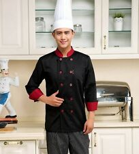 Chef Jacket Coat Chef Uniform Kitchen Men Long Sleeve Cooker Work Restaurant Hot