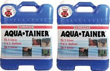 Reliance Aqua Tainer Water Container 7 Gallon 2 Pack New Vent 9410-03 9410-23