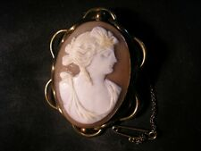Lovely Victorian Quality Pinchbeck, Classical Cameo Brooch