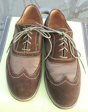 Guess Men's Dress Shoes Brad Brown Suede Wing Tips Oxford Loafer Size 10M Laceup