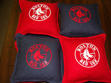 BOSTON  -  RED SOX    CORNHOLE BAGS SET OF 8   MLB   WORLD SERIES  2013  CHAMPS