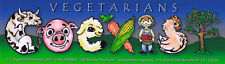 Vegetarian Coexist - Magnetic Bumper Sticker / Decal Magnet