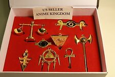 USA Seller Cosplay Millennium Items Puzzle Necklace Pendant 8pcs Set with box