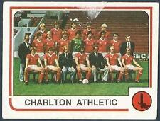 PANINI FOOTBALL 84-#406-CHARLTON ATHLETIC TEAM PHOTO