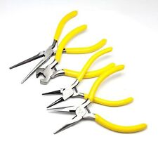 1 Sets Pliers DIY Jewelry Making Beading Beads Crafting Tools Yellow 110-145mm