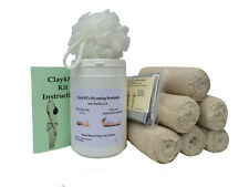 1ltr And 6 Contour Body Wrap Bandages Kit Bums/tums body clay/inch loss/toning