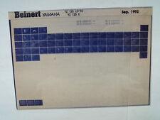 Yamaha YZ 125_LC_E_1993 Microfilm Catalogo ricambi Pezzo di Listello