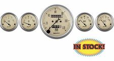 "Auto Meter Antique Beige 5 PC. Gauge Kit with Mechanical Speedometer 3-1/8"" 1808"