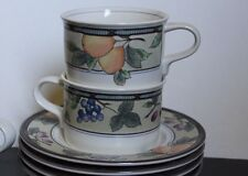 Mikasa - Intaglio - Garden Harvest - Cups & Saucers - TWO each - 2 - CAC29
