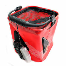 Folding Collapsible Bucket Water Pail Live Bait Cag Tackle Boxes Large