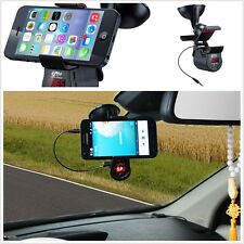 360 Adjustable FM Transmitter Car Kit Holder Handsfree For MP3 iPhone 6 Samsung