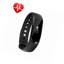 LETSCOM Fitness Tracker Watch with Heart Rate Monitor, Bluetooth 4.0 OLED Touch