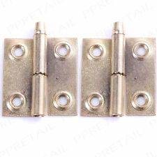 2 x BRASS RIGHT HANDED LIFT OFF HINGE Rising Butt Cabinet/Cupboard Door 36mm