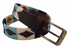 HAND MADE LEATHER BELT EMBROIDERED POLO ARGENTINA STRONG MEDIUM / LARGE