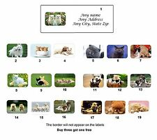 30 Personalized Return Address Cute Animals Labels Buy 3 get 1 free(ca3)