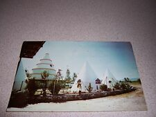 1950s INDIAN VILLAGE FAMILY TOURIST CENTER CHAPALA MEXICO VTG POSTCARD