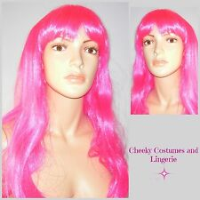 Pink Wig Long Hair with Fringe