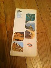1977 New Jersey Vintage TEXACO MAP Gas Gasoline Oil Roadway Hiway Highway old NJ
