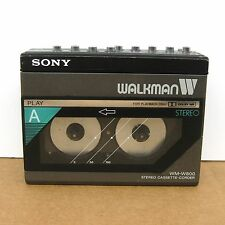 """Sony Walkman WM-W800 Dual Cassette Player / Recorder 80s - Untested """"AS IS"""""""