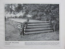 1915 WW1 PRINT ~ GAS FOR INFLATING AIRSHIPS BRITISH FORCES