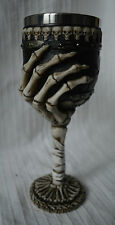 Skeleton Arm Skulls Goblet wine glass cup wiccan pagan chalice hand gothic metal