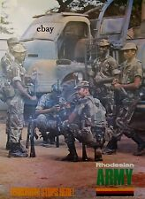 NEW A4 PRINT RECRUITMENT POSTER 1970'S RHODESIAN ARMY TERRORISM STOPS HERE