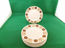 Royal Vale  Brown Flowers Side Plates x 9