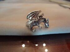 #252-VINTAGE PSCL-925-STERLING SILVER DRAGON RING-925--SIZE-8--VERY OLD AND NICE