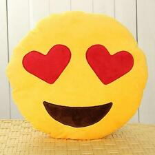Emoji Smiley Emoticon Keyring Round Cushion Plush Toy Doll Keychain uf