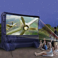Deluxe Inflatable Outdoor Screen, Show TV or Movie in your Backyard, Widescreen
