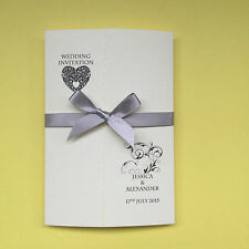 25 Gatefold Personalised Wedding Invites FREE P/P