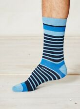 Braintree Bamboo Blue Striped Casual Socks Men Women One Size 7-11 Sustainable