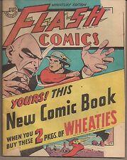 FLASH COMICS DC WHEATIES 1946 PROMOTIONAL MINI COMIC HAWKMAN & HAWKGIRL+ 32 PGS