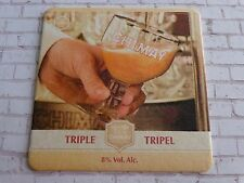 Beer Brewery Coaster ~ CHIMAY Tripel Trappiste Biere ~ Baileux, BELGIUM Brewery